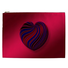 Heart Love Luck Abstract Cosmetic Bag (xxl)