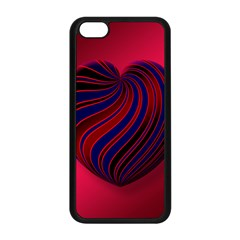 Heart Love Luck Abstract Apple Iphone 5c Seamless Case (black) by Celenk