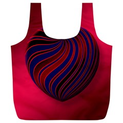 Heart Love Luck Abstract Full Print Recycle Bags (l)  by Celenk