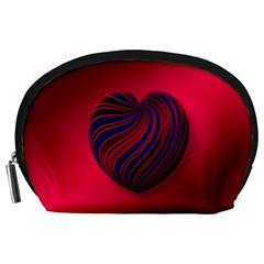 Heart Love Luck Abstract Accessory Pouches (large)  by Celenk