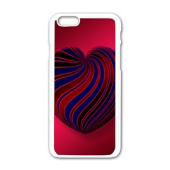 Heart Love Luck Abstract Apple Iphone 6/6s White Enamel Case by Celenk