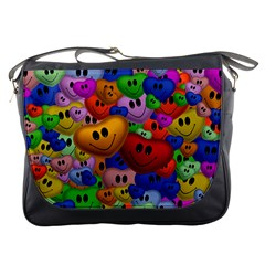Heart Love Smile Smilie Messenger Bags