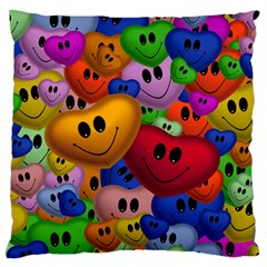 Heart Love Smile Smilie Standard Flano Cushion Case (one Side)