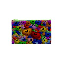 Heart Love Smile Smilie Cosmetic Bag (xs)