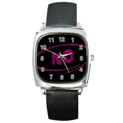 No Cancellation Rejection Square Metal Watch