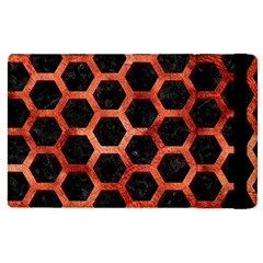 Hexagon2 Black Marble & Copper Paint (r) Apple Ipad Pro 12 9   Flip Case by trendistuff