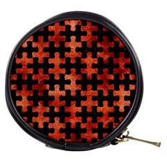 Puzzle1 Black Marble & Copper Paint Mini Makeup Bags by trendistuff
