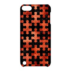 Puzzle1 Black Marble & Copper Paint Apple Ipod Touch 5 Hardshell Case With Stand by trendistuff