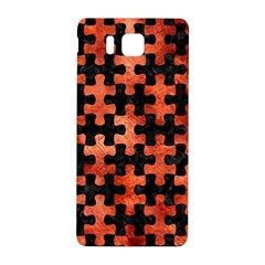 Puzzle1 Black Marble & Copper Paint Samsung Galaxy Alpha Hardshell Back Case by trendistuff