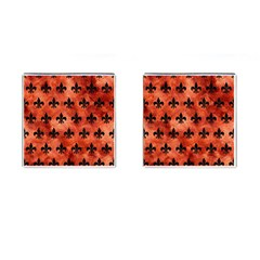 Royal1 Black Marble & Copper Paint (r) Cufflinks (square) by trendistuff