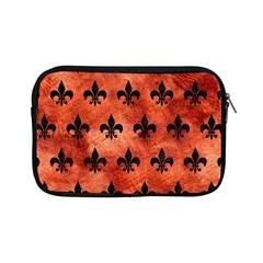 Royal1 Black Marble & Copper Paint (r) Apple Ipad Mini Zipper Cases by trendistuff