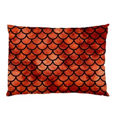 Scales1 Black Marble & Copper Paint Pillow Case (two Sides) by trendistuff