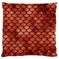 Scales1 Black Marble & Copper Paint Large Cushion Case (two Sides) by trendistuff