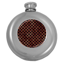 Scales1 Black Marble & Copper Paint (r) Round Hip Flask (5 Oz) by trendistuff