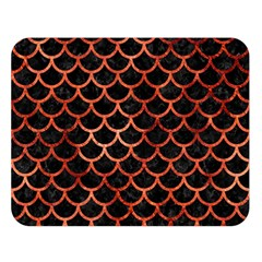 Scales1 Black Marble & Copper Paint (r) Double Sided Flano Blanket (large)  by trendistuff