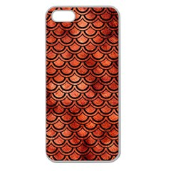 Scales2 Black Marble & Copper Paint Apple Seamless Iphone 5 Case (clear) by trendistuff