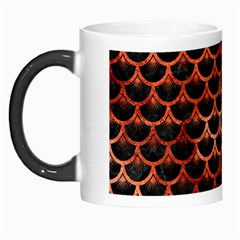 Scales3 Black Marble & Copper Paint (r) Morph Mugs by trendistuff