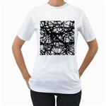 Neurons Brain Cells Brain Structure Women s T-Shirt (White) (Two Sided)