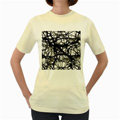 Neurons Brain Cells Brain Structure Women s Yellow T Shirt by Celenk