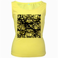 Neurons Brain Cells Brain Structure Women s Yellow Tank Top by Celenk