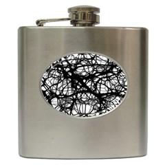 Neurons Brain Cells Brain Structure Hip Flask (6 oz)