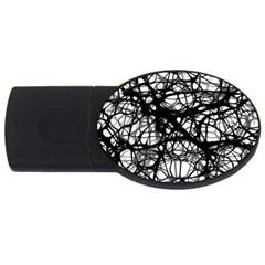 Neurons Brain Cells Brain Structure USB Flash Drive Oval (2 GB)