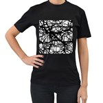 Neurons Brain Cells Brain Structure Women s T-Shirt (Black) (Two Sided)