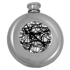 Neurons Brain Cells Brain Structure Round Hip Flask (5 oz)