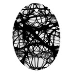 Neurons Brain Cells Brain Structure Oval Ornament (Two Sides)