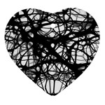 Neurons Brain Cells Brain Structure Heart Ornament (Two Sides)