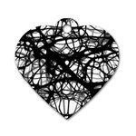 Neurons Brain Cells Brain Structure Dog Tag Heart (Two Sides)