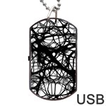 Neurons Brain Cells Brain Structure Dog Tag USB Flash (Two Sides)