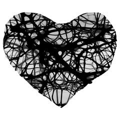 Neurons Brain Cells Brain Structure Large 19  Premium Heart Shape Cushions