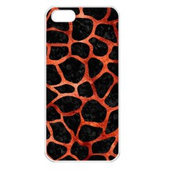 Skin1 Black Marble & Copper Paint Apple Iphone 5 Seamless Case (white) by trendistuff