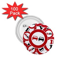 Overtaking Traffic Sign 1 75  Buttons (100 Pack)