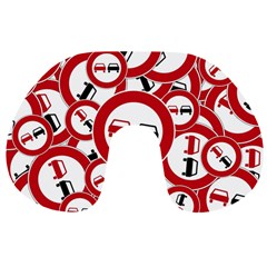 Overtaking Traffic Sign Travel Neck Pillows