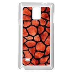 Skin1 Black Marble & Copper Paint (r) Samsung Galaxy Note 4 Case (white) by trendistuff