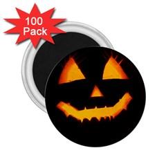 Pumpkin Helloween Face Autumn 2 25  Magnets (100 Pack)  by Celenk