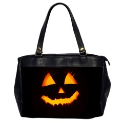 Pumpkin Helloween Face Autumn Office Handbags (2 Sides)  by Celenk