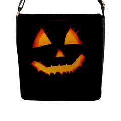 Pumpkin Helloween Face Autumn Flap Messenger Bag (l)  by Celenk