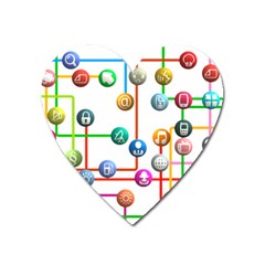 Icon Media Social Network Heart Magnet by Celenk