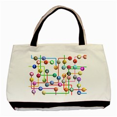 Icon Media Social Network Basic Tote Bag by Celenk