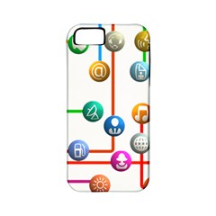 Icon Media Social Network Apple Iphone 5 Classic Hardshell Case (pc+silicone) by Celenk