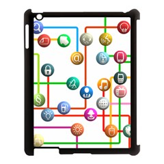 Icon Media Social Network Apple Ipad 3/4 Case (black) by Celenk