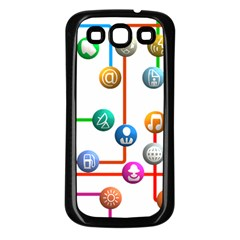 Icon Media Social Network Samsung Galaxy S3 Back Case (black) by Celenk