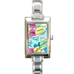 Stickies Post It List Business Rectangle Italian Charm Watch by Celenk
