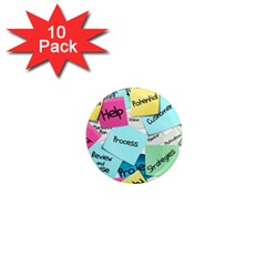 Stickies Post It List Business 1  Mini Magnet (10 Pack)  by Celenk