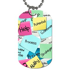 Stickies Post It List Business Dog Tag (one Side) by Celenk