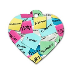 Stickies Post It List Business Dog Tag Heart (one Side) by Celenk