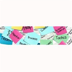 Stickies Post It List Business Large Bar Mats by Celenk